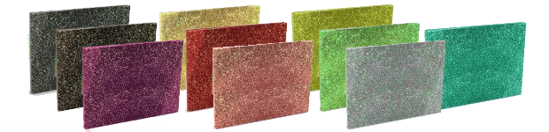 Glitter: Black & Silver, Black & Gold, Pink, Gold, Red, Salmon, Chartreuse, Sea Green, Holographic, Ice Blue