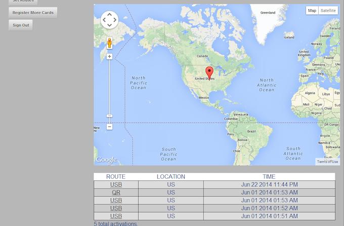Backend User Interface Screenshot