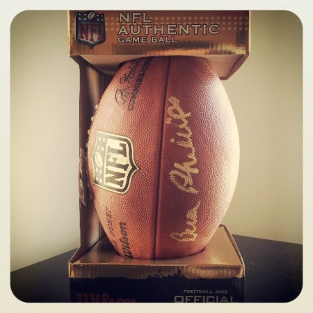Autographed Wilson F1100 Office NFL Game Football