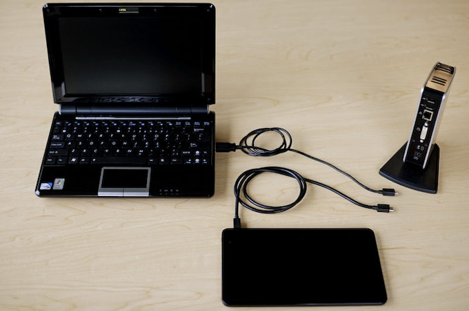 The Pro8 Connects to Your Laptop! (USB Micro B to USB A Cable)
