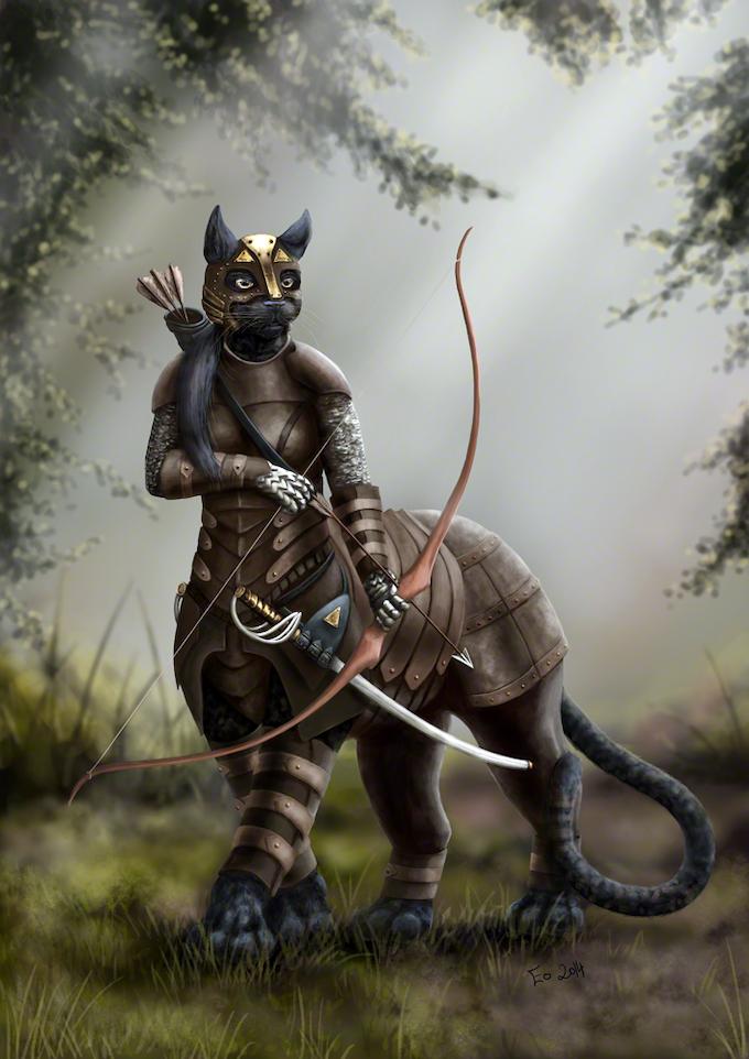 The Huntress, by Eo Fenstalker