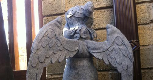 Poseable Weeping Angel plushie sample