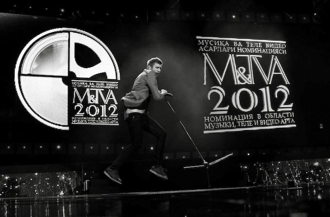 Ivan Dorn at the M&TVA Awards in Tashkent, Uzbekistan (Photo Credit: Addison Wright)