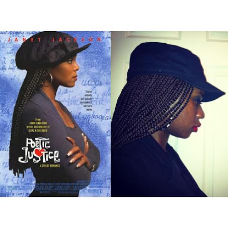 LoudPen as Janet Jackson in Poetic Justice (Photo by LoudPen)