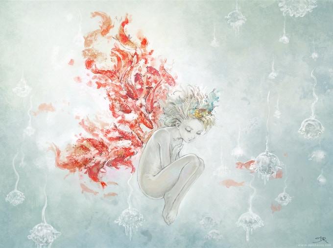 Koi fishes angel, by David Revoy