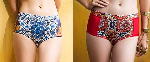 Talavera Carmen in blue with embroidery and red