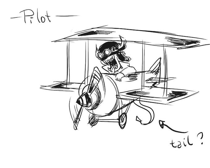 """Pilot"" Gremlin Concept Art"