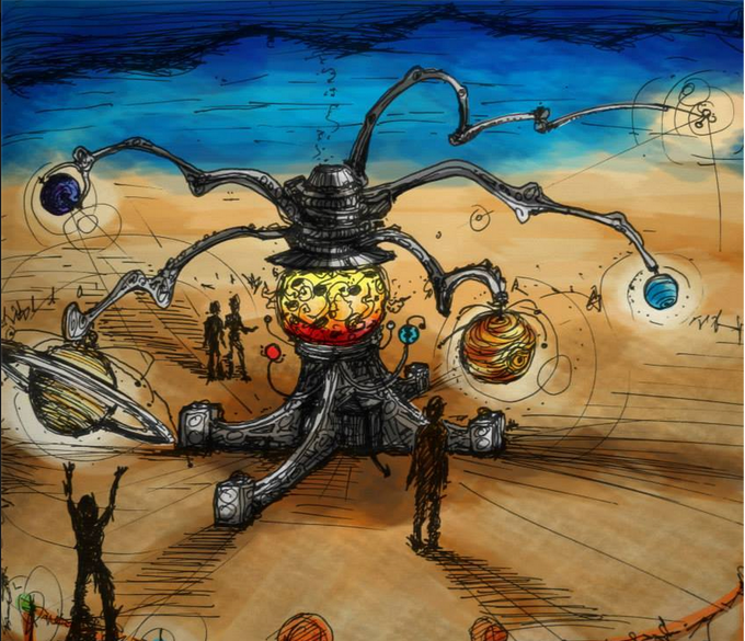 Artist Rendition of Celestial Mechanica