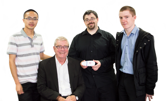 A picture of part of the team. L-R Peng, Graham, Robert and Billy. Apologies from members of the team not present
