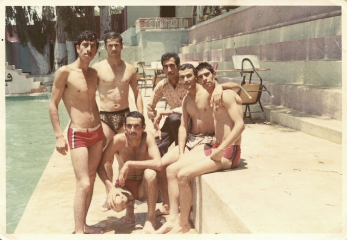 'Swimmers, found photograph, Beirut 1977, album of Hussein Saleh, collection of Diab Alkarssifi', A Lebanese Archive, Ania Dabrowska, 2013