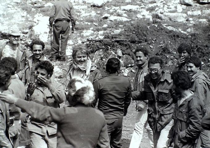 'George Hawi in militia camps, Ayoun Al Siman Mountains, Lebanon, photograph by Diab Alkarssifi, 1976', A Lebanese Archive, Ania Dabrowska, 2013