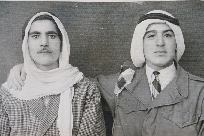 'Double studio portrait, found photograph c. 1940s, album of Youssef Saleh, collection of Diab Alkarssifi', A Lebanese Archive, Ania Dabrowska, 2014