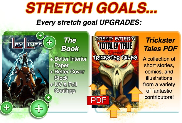 The baseline version of the Trickster Tales collection, without any stretch goal contributors, will include stories from the Moko Press team!  Including Robin Childs, Cory Childs, Matthew Parker, Phantom, and C.S. Fleming!