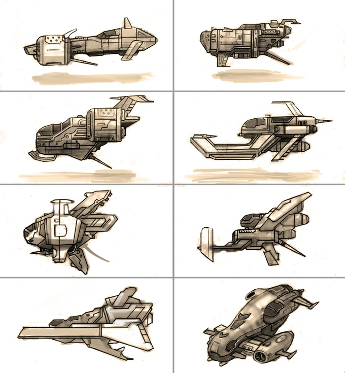 Radial-G : 1st release ship concepts