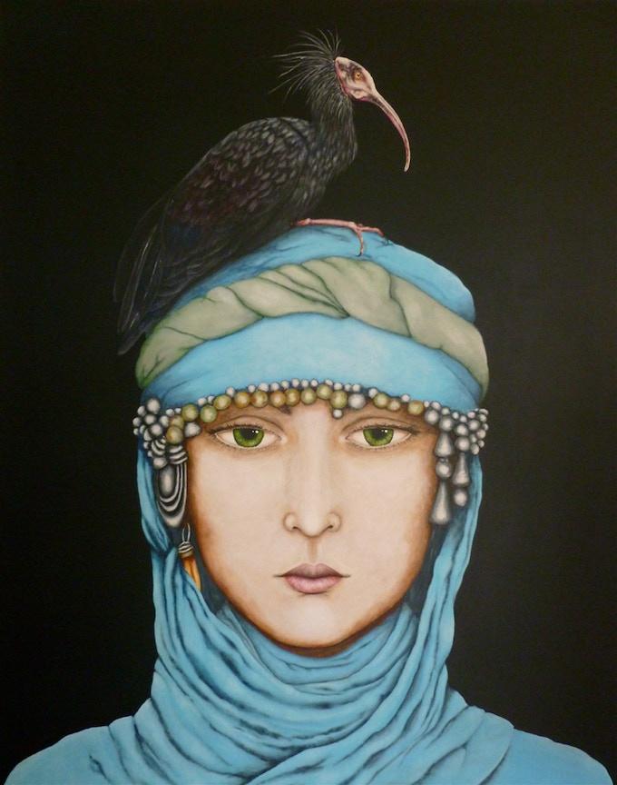 'Northern Bald Ibis'  60x48