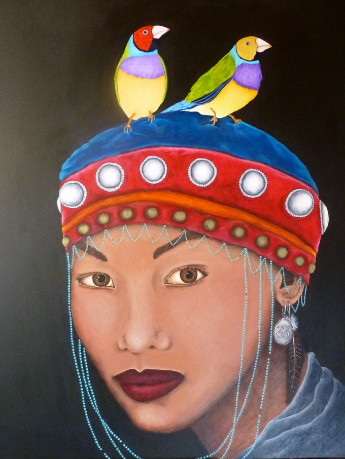 'Gouldian Finches'   60x48