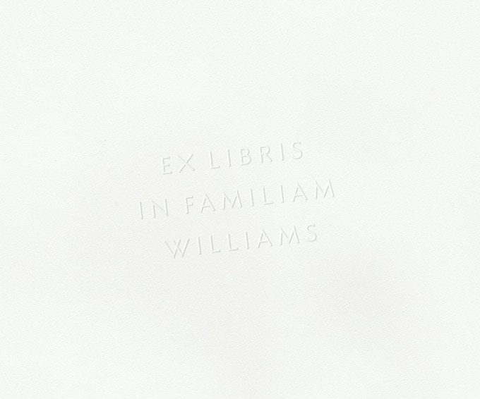 "Personalized EX LIBRIS ""From the library of"" embosser, set in Bibliotheca Sans typeface, with your name. Embosser included."