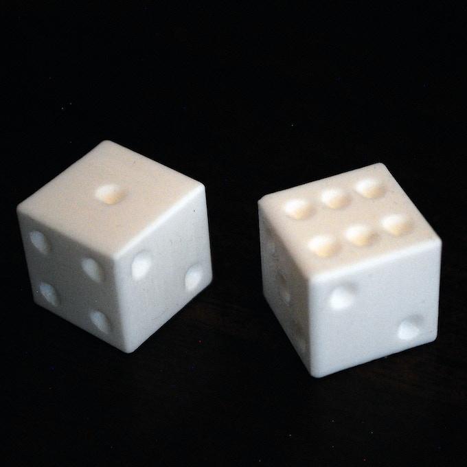 3D Printed Standard Dice