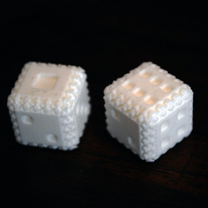 3D Printed Textured Dice