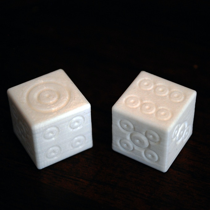 3D Printed Bullseye Dice