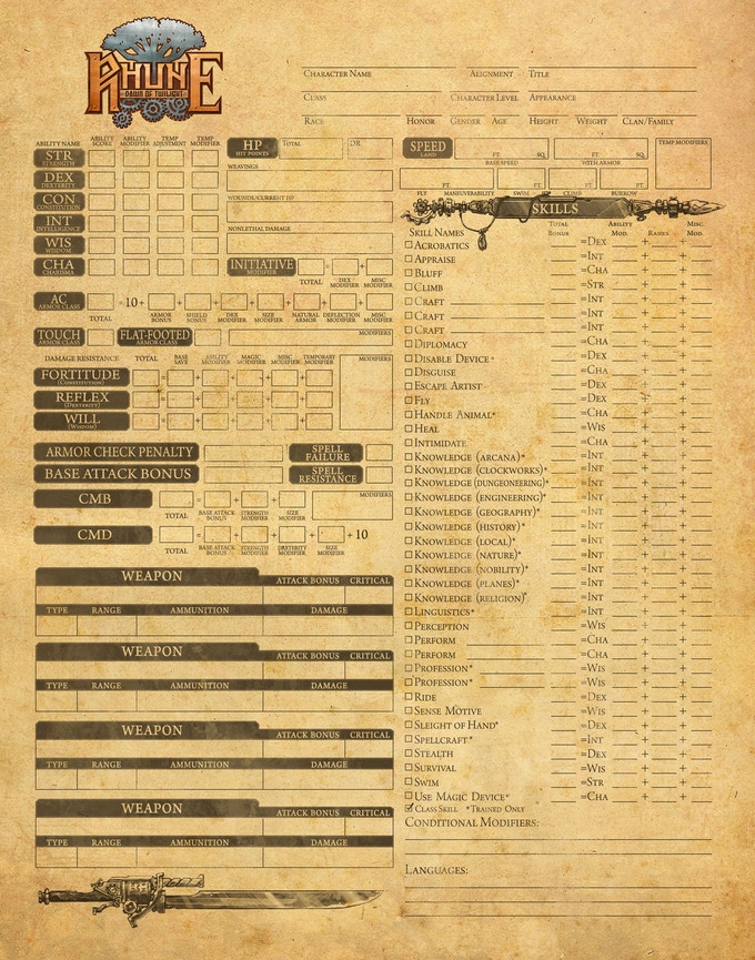The new Stormpunk Character Primer will include character sheets, session sheets, and other GM resources!
