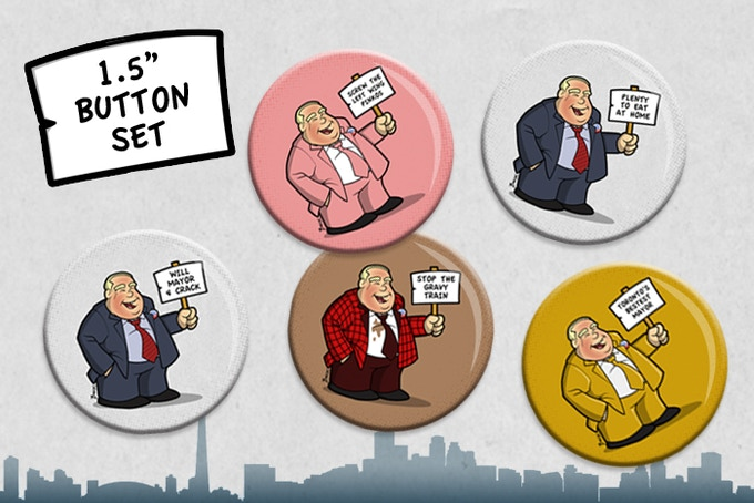Button 5-Pack - Add $5 to your pledge for each additional button pack.
