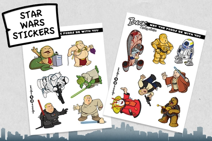 Beck's Rob Ford x Star Wars Sticker Sets. Add $15 for each additional sticker pack