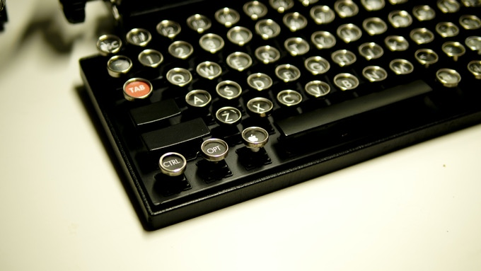 The Qwerkywriter - Typewriter Inspired Mechanical Keyboard by