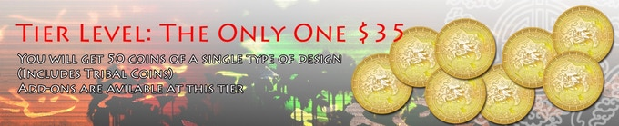 You will get 50 coins of a single type of design (Includes Tribal Coins).