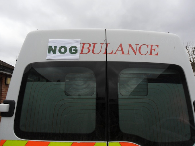 The Nogbulance awaits patients!