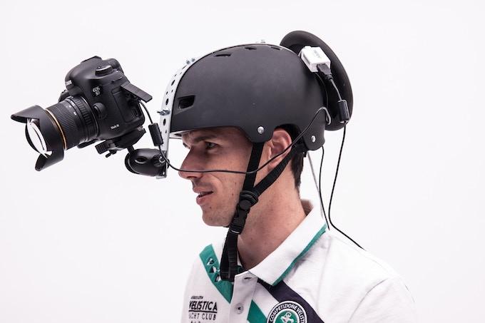 Special helmet for video shooting