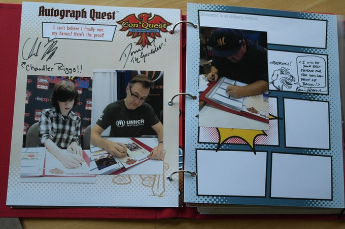 Autograph Quest - Love getting shot of signing in action!