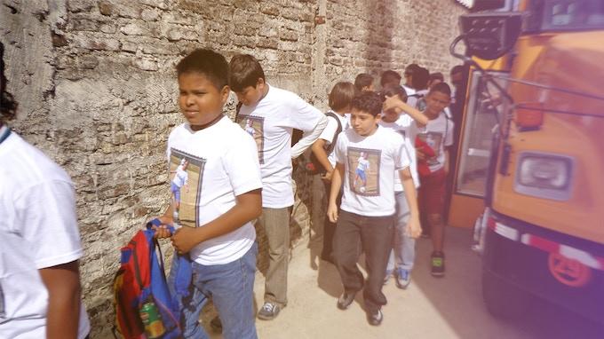 Cachorros FC team honoring Larissa in Managua, Nicaragua.
