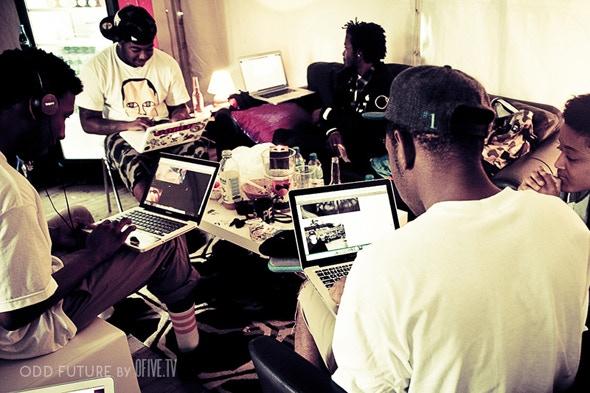 Rap group Odd Future serving the web -- photo courtesy of Ofive TV