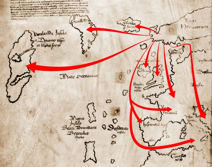 Vinland map and Viking Sea Routes