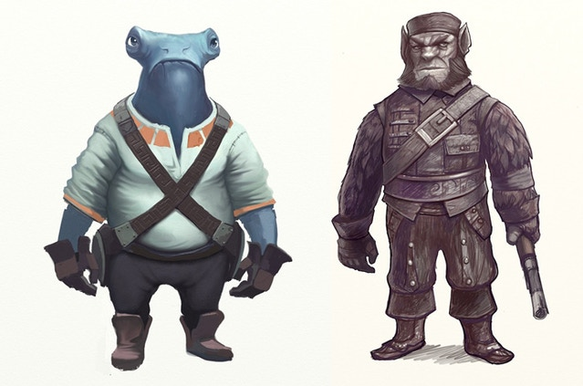 Examples of a couple of the new characters Frits is designing.
