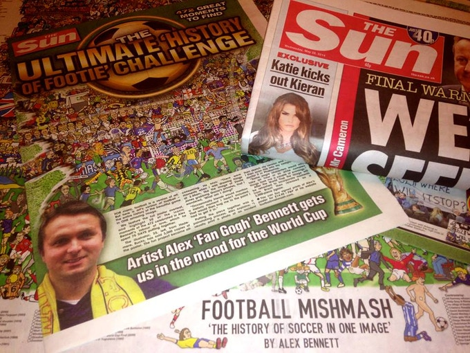 Football Mishmash was featured as a centre spread in Britain's biggest selling newspaper, The Sun.