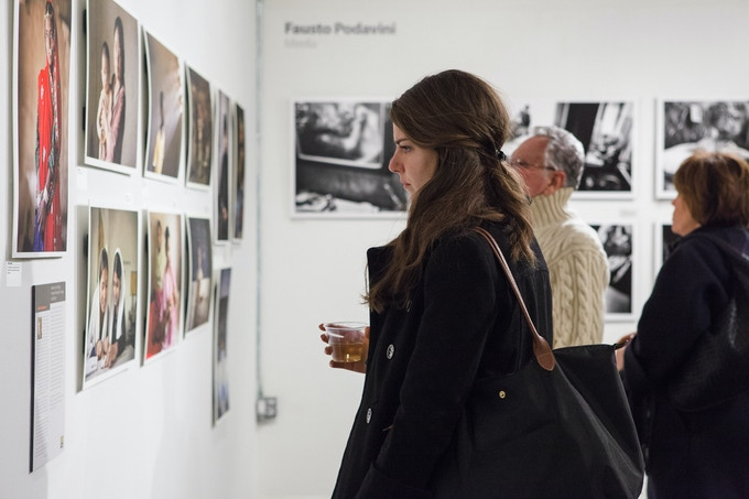 SDN exhibition at powerHouse Arena, Brooklyn, featuring work by winners of Call for Entries. Feburary 2014. Photograph by Matthew Lomanno.