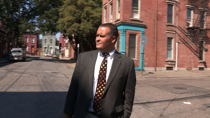 Craig Hockenberry makes his rounds in Lower Price Hill.