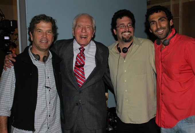 """Producers MARK GOTTWALD, ALTMAN & KRIOZERE on set with the great ANGUS """"Tall Man"""" SCRIMM!"""