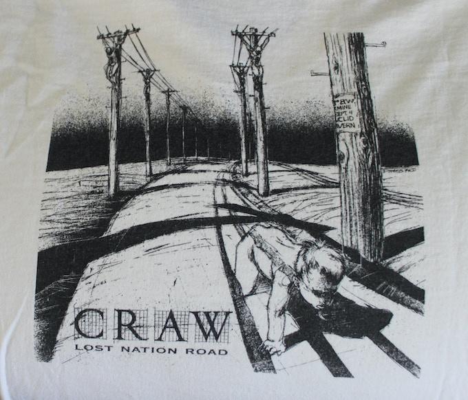 "Craw shirt - ""Lost Nation Road"" design - back"