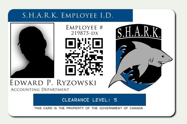 S.H.A.R.K. ID badge
