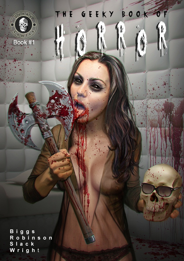 Cover artwork - 'The Geeky Book Of Horror'