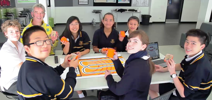 Glenunga International High School students