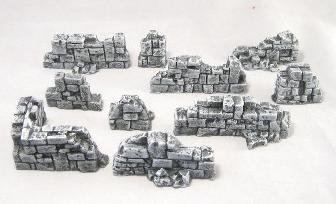 Broken stone walls
