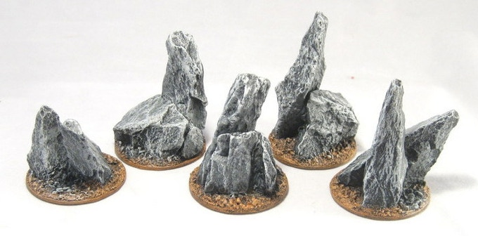 Rocky outcropping inserts