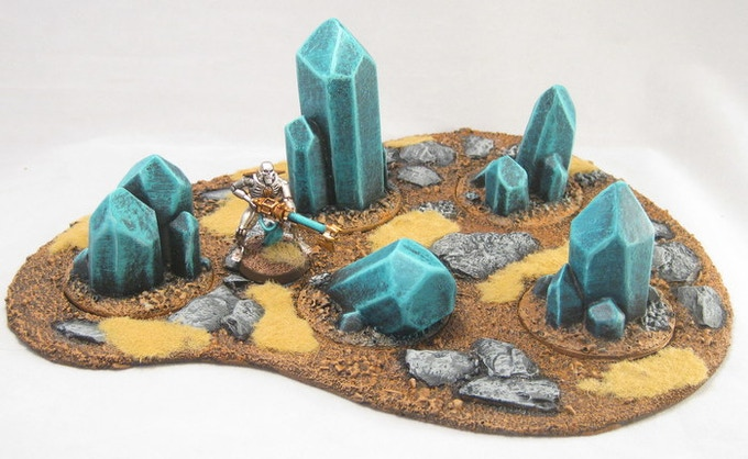 Giant crystal inserts in an area terrain base 5.1