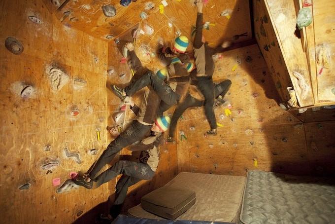 Jakub climbing the script!