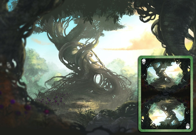 Forest Deck Card