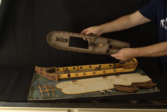 HMS Surprise (Taken apart to show interior)